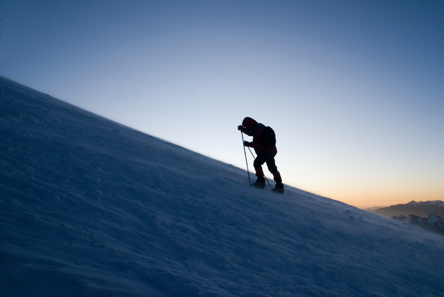 Figure of climbe