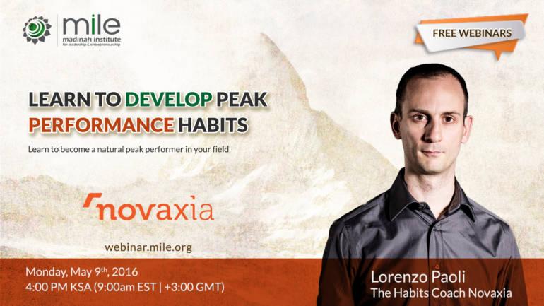 Lorenzo Paoli Coach per il Madina Institute for Leadership and Entrepreneurship in Arabia Saudita